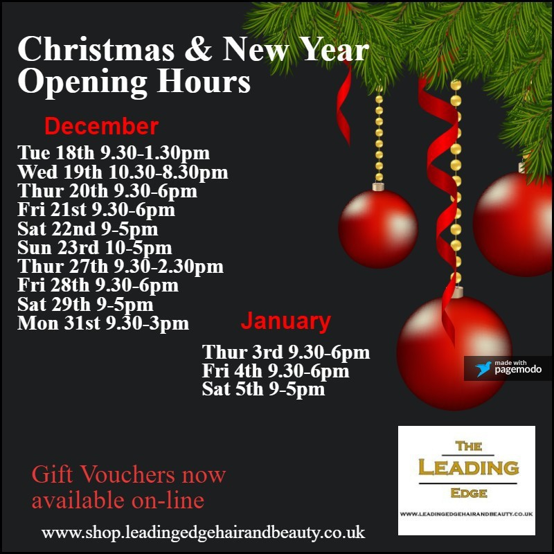 Stockport Christmas Opening Hours 2018