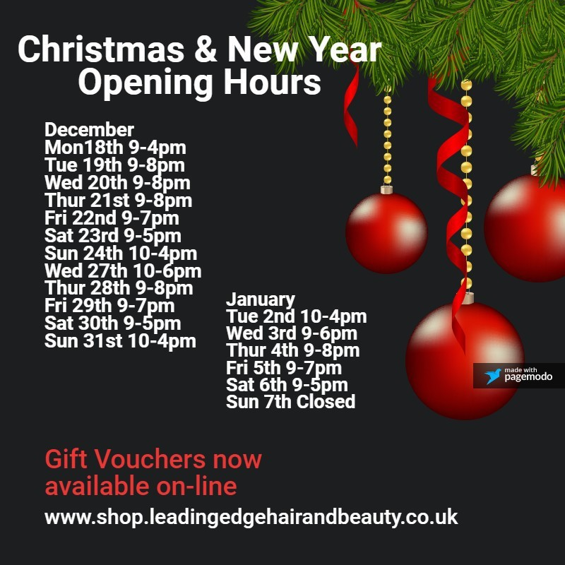 Hyde Christmas & New Year Opening Hours
