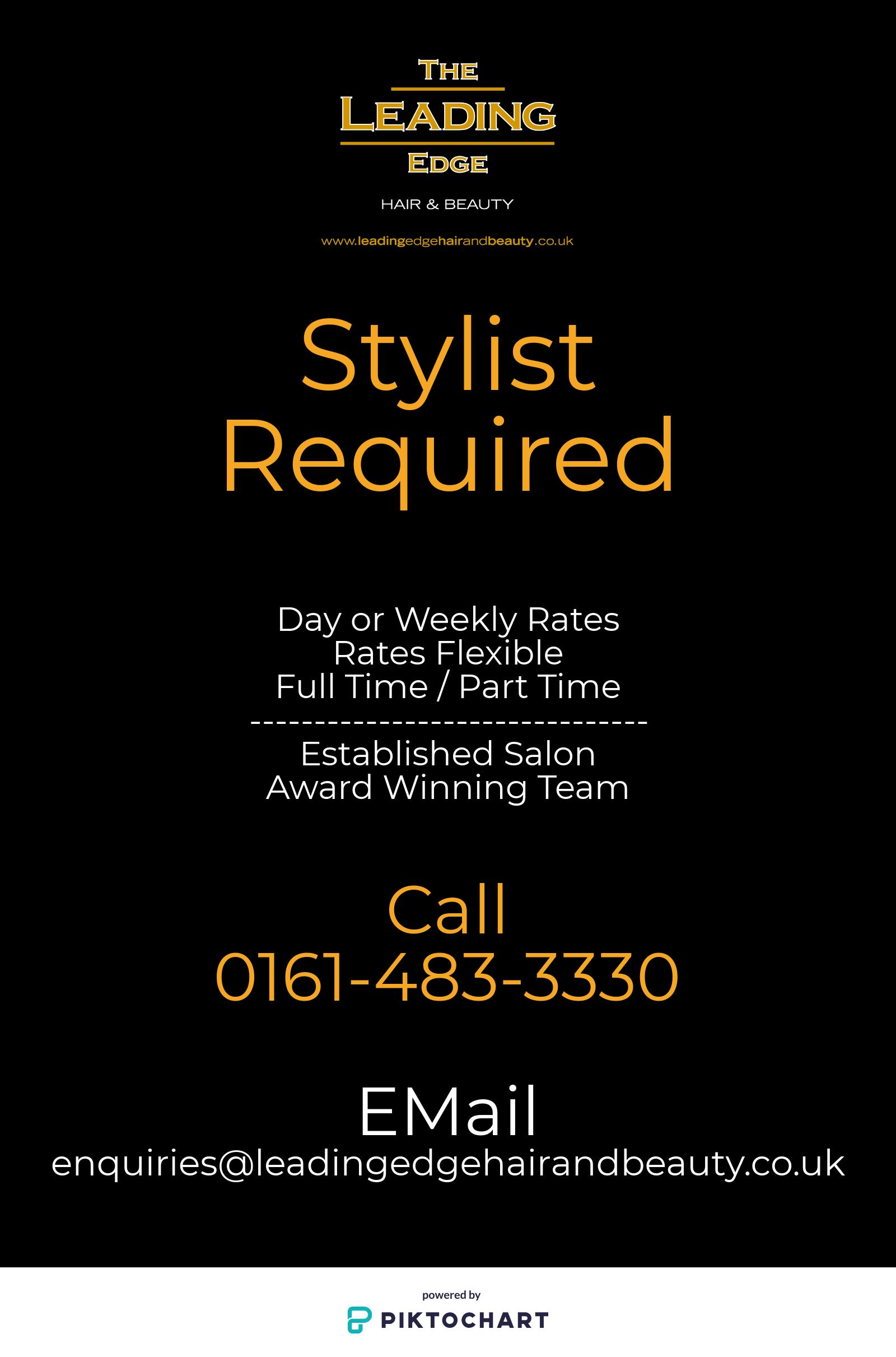 Flexible Stylist Opportunities (Great Moor, Stockport)