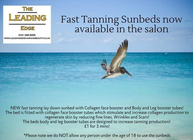 Sunbed to top up your tan and Vitamin D