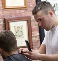 Barbers skin fade
