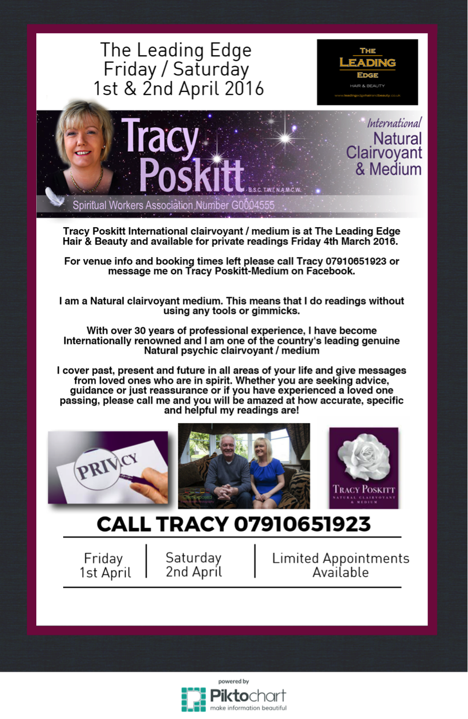 International clairvoyant to visit Leading Edge Hyde